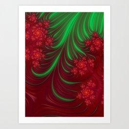 Christmas Flow - Fractal Art Art Print