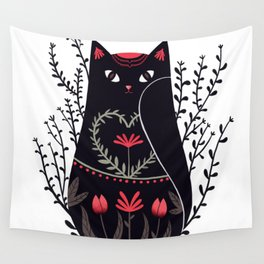 Russian kitty Wall Tapestry