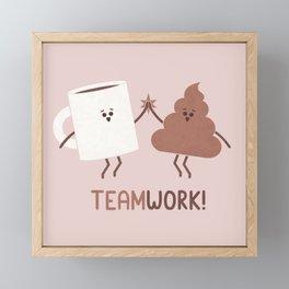 Teamwork Framed Mini Art Print