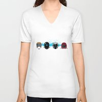 pacific rim V-neck T-shirts featuring Pacific Rim: Kaiju Kill Count by MNM Studios