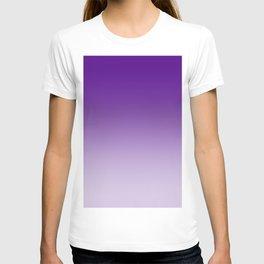 Violet to Pastel Violet Horizontal Linear Gradient T-shirt