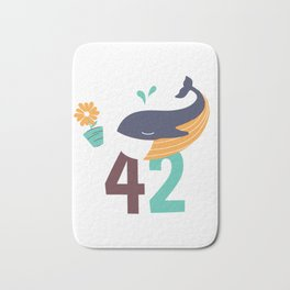 Whale and Falling Flower Pot Number 42 Bath Mat