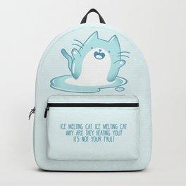 Kawaii Ice melting cat Backpack