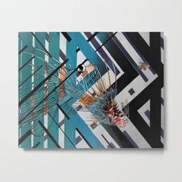 swimming through lines Metal Print
