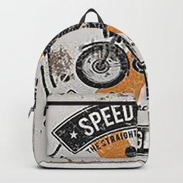 Vintage Speedmaster Bike Racing Poster Backpack