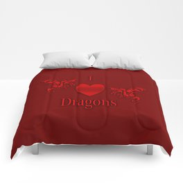 I Heart Dragons Comforters
