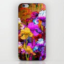 Yellow & Violet Purple Fantasy Iris  Painting iPhone Skin