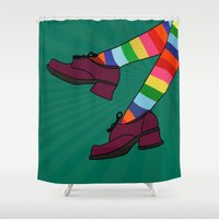 erotic Shower Curtains featuring cool by mark ashkenazi