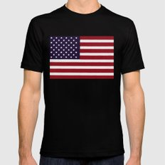 The Star Spangled Banner Mens Fitted Tee Black MEDIUM