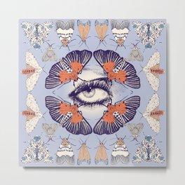 Moth Mandala Metal Print