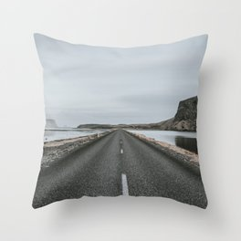 Empty Road - A Love Story Throw Pillow