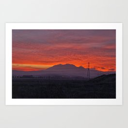 Sunset at Mt. Diablo Art Print