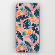 Pineapple and Leaf Pattern iPhone & iPod Skin
