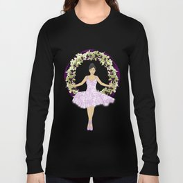 Ballerina Orchid Wreath Long Sleeve T-shirt