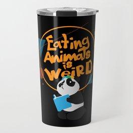 Eating Animals Is Weird - Vegan Vegetarien Animal Travel Mug