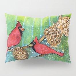 Christmas Cardinals Pillow Sham