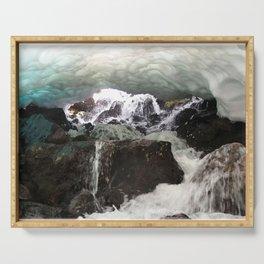 Watercolor Landscape, Trollskagi 33, Iceland Serving Tray