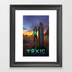 Toxic Surfer Framed Art Print