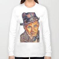 frank sinatra Long Sleeve T-shirts featuring Frank Sinatra  by Sara Elyse Lehtman