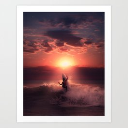 A Surfer's Dream Art Print