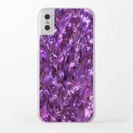 Abalone Shell | Paua Shell | Magenta Tint Clear iPhone Case