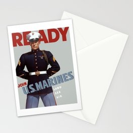 Ready -- Join U.S. Marines Stationery Cards