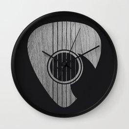 Strum... (White on Black) Wall Clock