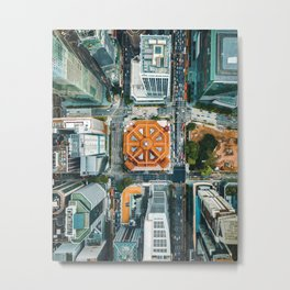 Aerial Cityscape View (Color) Metal Print