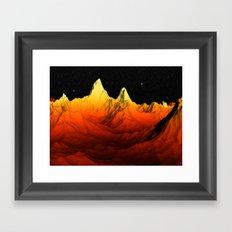 Sci Fi Mountains Landscape Framed Art Print
