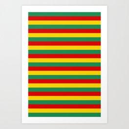 cameroon flag stripes Art Print