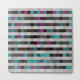 pixels pattern with colorful squares and stripes Metal Print