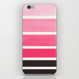 Pink Minimalist Mid Century Modern Color Fields Ombre Watercolor Staggered Squares iPhone Skin