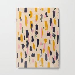 Abstract Contemporary Print 068 -brush, brushes, grunge, bauhaus, gift, matisse, contemporary, retro Metal Print