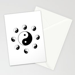 Yin and Yang 11 - Tao,Zen,Taoism,Dao,Harmony,religion,buddhism,buddhist,taijitu,taiji,taoist,china Stationery Cards