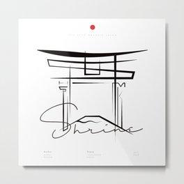 ITSUKUSHIMA Metal Print