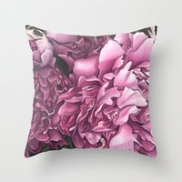 peonies Throw Pillows featuring Peonies by Jada Fitch