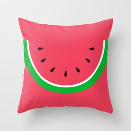Red Watermelon - Summer time Throw Pillow