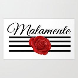 Rose Malamente lines Art Print