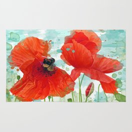 Poppies 02 Rug