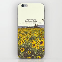 Proverbs and Sunflowers iPhone Skin