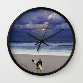 The Art Of Surfing In Hawaii 9 Wall Clock