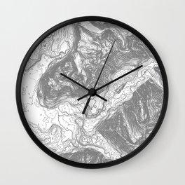 NORTH BEND WA TOPO MAP - LIGHT Wall Clock