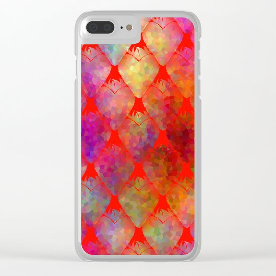 Strawberry Hearts Clear iPhone Case