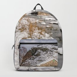 Frozen Lake Snowdonia Backpack