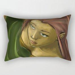 Female efl in water Rectangular Pillow