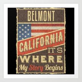 Belmont California Art Print