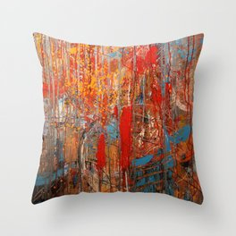 A Shoot Out In A Comic Book Store Throw Pillow