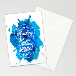 Mother's Love Rockin' this Mom Life Stationery Cards