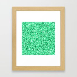 Modern abstract neo mint green glitter Framed Art Print