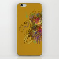 afro iPhone & iPod Skins featuring Afro by KiraTheArtist